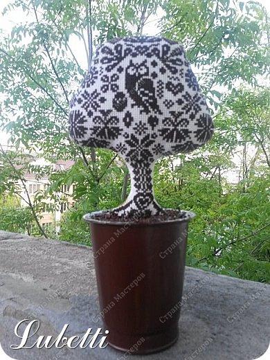 """Топиарий - обычное украшение интерьера в европейской флористике. Его еще называют """"Европейским деревом"""" или """"Деревом счастья"""". Топиарий - отличный выход для тех, у кого не очень приживаются цветы, а еще это просто оригинальное украшение интерьера.  Для меня создание топиария - еще одна мечта в очереди, выстроившейся в моей голове. Изначально я планировала в качестве знакомства с данной техникой попробовать наваять классическое кофейное деревце. Но, как говорится, мы предполагаем, а Бог располагает. В результате одна из идей вылезла немножко без очереди. А теперь по порядку... фото 5"""