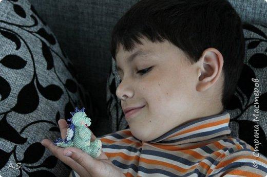 Сплёлся у меня дракончик для сына. По мастер классу от замечательной мастерицы Бригантины https://stranamasterov.ru/node/268451?c=favorite  фото 8