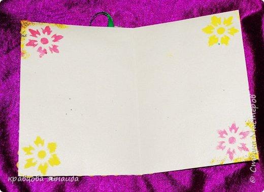 ДОБРЫЙ ВЕЧЕР ВСЕМ , хочу поделиться  поделками для души, решила для двух школьниц  сделать сувенирчики и открыточки , два маленьких мишуток и две открыточки, посмотрим  одного связала , другого сшила фото 11