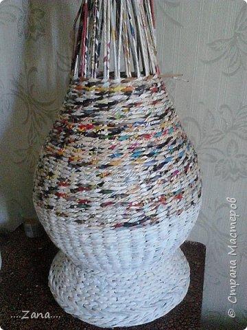 Продолжаю плести вазы.заказывают одну за другой.ну а мне очень приятно,раз людям нравится. фото 5