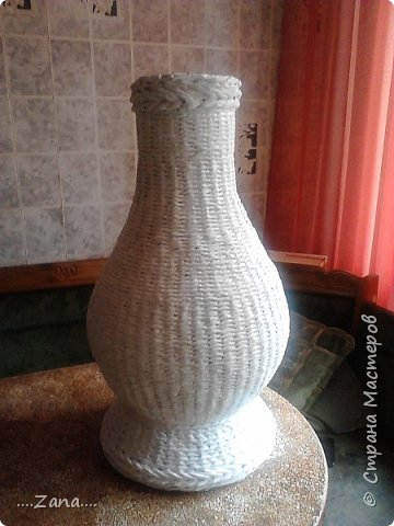 Продолжаю плести вазы.заказывают одну за другой.ну а мне очень приятно,раз людям нравится. фото 7