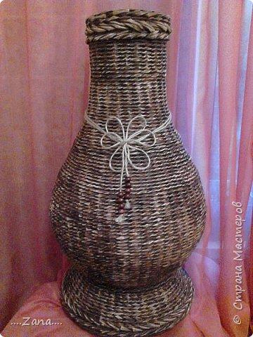 Продолжаю плести вазы.заказывают одну за другой.ну а мне очень приятно,раз людям нравится. фото 8