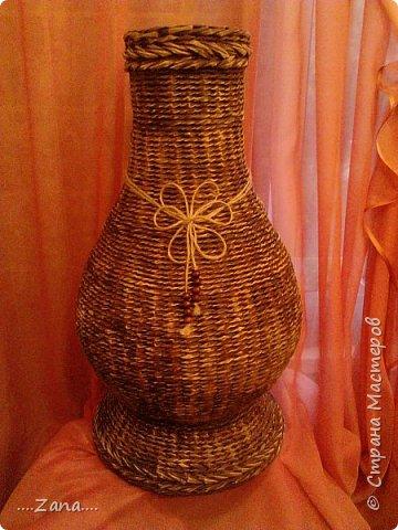 Продолжаю плести вазы.заказывают одну за другой.ну а мне очень приятно,раз людям нравится. фото 9
