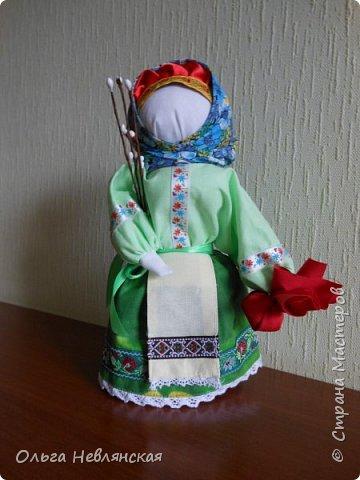 делали с детьми проект по обрядовой народной кукле. и заразилась . Это кукла Вербница фото 1