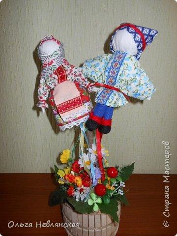 делали с детьми проект по обрядовой народной кукле. и заразилась . Это кукла Вербница фото 5