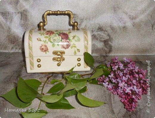 Всем БОЛЬШОЙ ПРИВЕТ !!!   Сегодня продемонстрирую вам своё последнее этой весной произведение - сундучок для драгоценностей, сделанный в подарок для молодой женщины. фото 1
