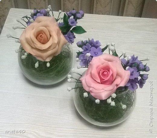 Холоднофарфоровые цветочки фото 2