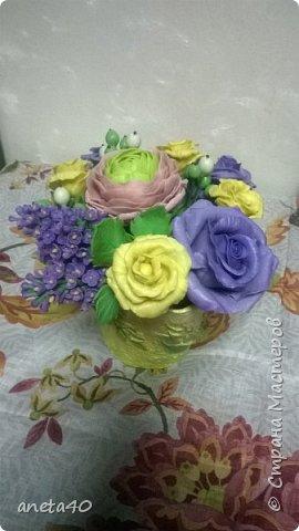 Холоднофарфоровые цветочки фото 4