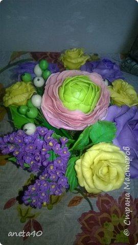 Холоднофарфоровые цветочки фото 5