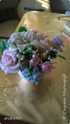 Холоднофарфоровые цветочки фото 3