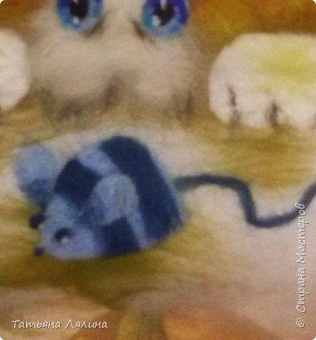 Давненько не работала с шерстью, под настроение родился вот такой забавный котик фото 4