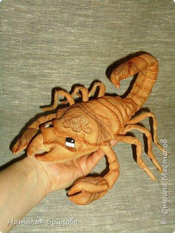 Давно хотела сшить такого скорпиона в технике грунтованный текстиль по м.к. Анастасии Голеневой)) фото 5