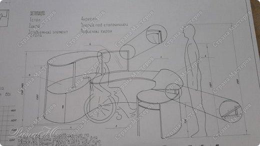 проект рабочего стола для инвалида колясочника фото 1