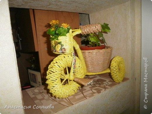 велосипед кашпо и как я плела фото 1
