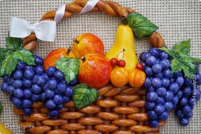 Всем привет))) Слепилась у меня тут парочка работ)))) Корзинка с фруктами, 21х30   фото 4