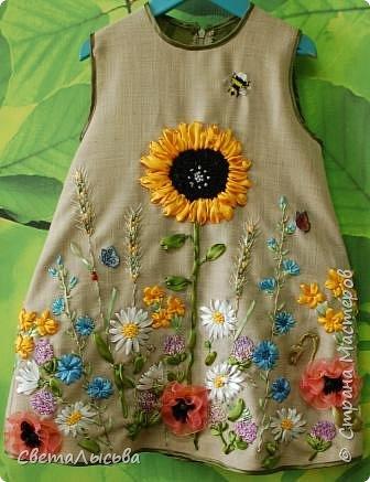 Здравствуйте все! Насмотрелась на работы Светы Хачиной https://stranamasterov.ru/node/916008 и решила к осеннему балу для девочек сшить платья да чтобы все в цветах были! фото 3