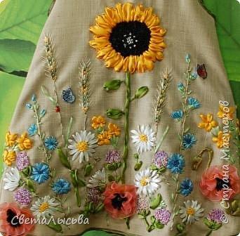 Здравствуйте все! Насмотрелась на работы Светы Хачиной https://stranamasterov.ru/node/916008 и решила к осеннему балу для девочек сшить платья да чтобы все в цветах были! фото 2