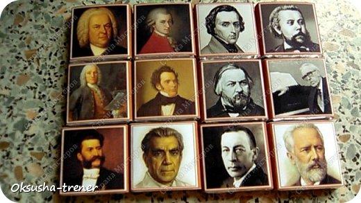 У племянницы в этом году выпускной в музыкальной школе, вот такие получились коробочки учителям по специальности) фото 7