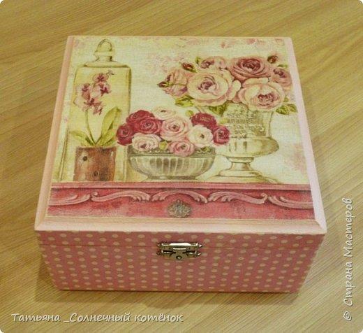 Шкатулка для чайных пакетиков или сладостей фото 3