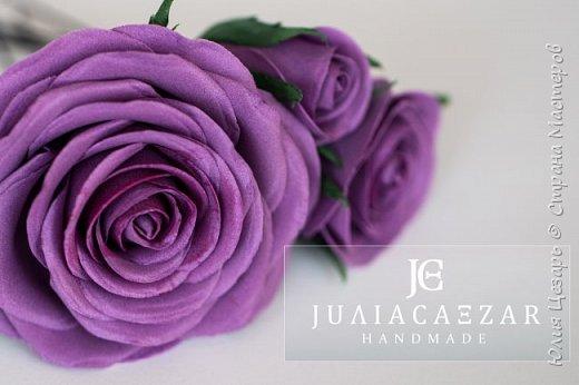 Шпильки с розами из фоамирана  фото 2