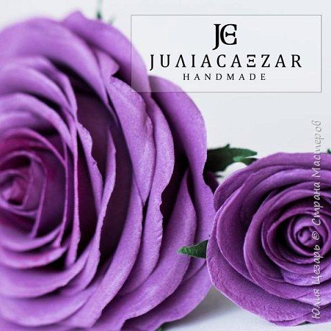 Шпильки с розами из фоамирана  фото 5