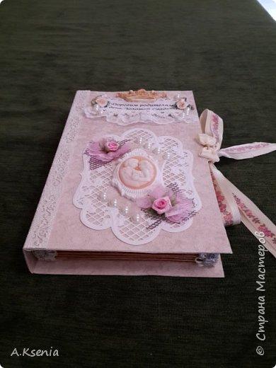 Вот такая подарочная книга-открытка у меня получилась на заказ ко дню золотой свадьбы. фото 8