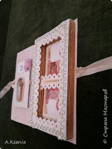 Вот такая подарочная книга-открытка у меня получилась на заказ ко дню золотой свадьбы. фото 4