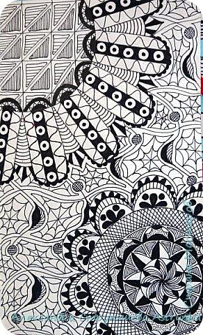 Рисование в стиле зенарт, зентангл, картины в стиле дудлинг и мандалы – все это не только необычные техники рисования, это еще и целая Вселенная, скрытая художником в переплетениях замысловатых узоров! Не устояла и я))) Узоры рисуются гелевыми или капиллярными ручками, обычно черного цвета, но можно и разноцветными...  фото 3