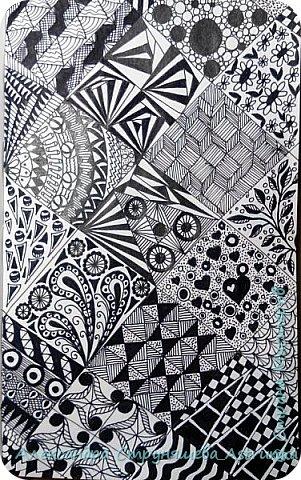 Рисование в стиле зенарт, зентангл, картины в стиле дудлинг и мандалы – все это не только необычные техники рисования, это еще и целая Вселенная, скрытая художником в переплетениях замысловатых узоров! Не устояла и я))) Узоры рисуются гелевыми или капиллярными ручками, обычно черного цвета, но можно и разноцветными...  фото 2