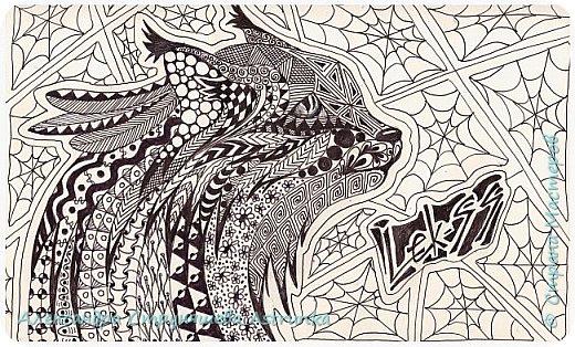 Рисование в стиле зенарт, зентангл, картины в стиле дудлинг и мандалы – все это не только необычные техники рисования, это еще и целая Вселенная, скрытая художником в переплетениях замысловатых узоров! Не устояла и я))) Узоры рисуются гелевыми или капиллярными ручками, обычно черного цвета, но можно и разноцветными...  фото 14