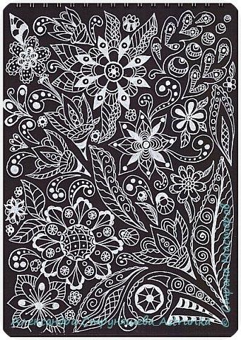 Рисование в стиле зенарт, зентангл, картины в стиле дудлинг и мандалы – все это не только необычные техники рисования, это еще и целая Вселенная, скрытая художником в переплетениях замысловатых узоров! Не устояла и я))) Узоры рисуются гелевыми или капиллярными ручками, обычно черного цвета, но можно и разноцветными...  фото 7