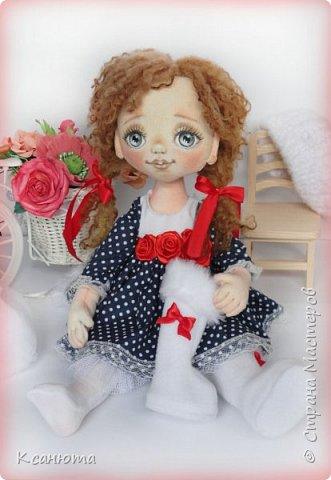 Сонечка.Текстильная куколка. фото 9