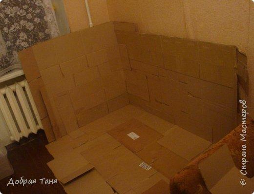 домик из картонных коробок фото 4
