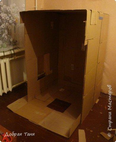 домик из картонных коробок фото 5