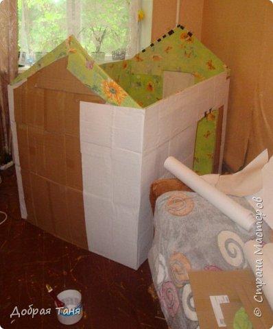 домик из картонных коробок фото 8