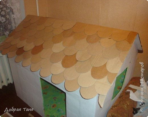 домик из картонных коробок фото 10