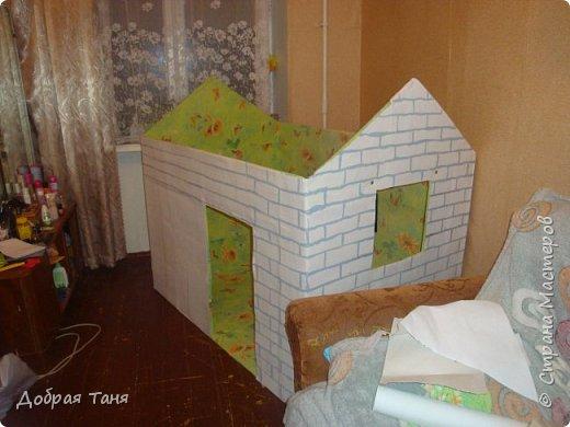 домик из картонных коробок фото 11