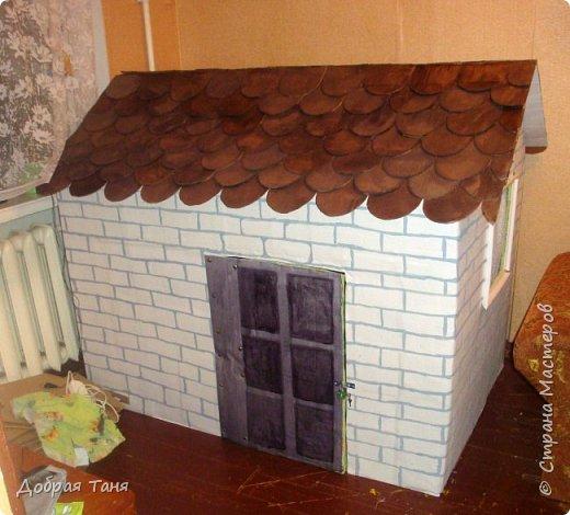 домик из картонных коробок фото 17