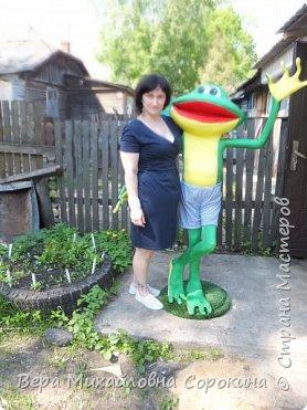 1июня в г.Дмитрове,где я живу,открывается музей лягушки! Вот такой красавчик будет жить в этом музее!Его рост 160см. фото 3