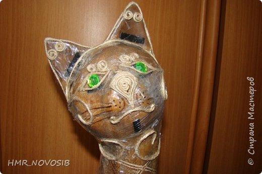 Добрый вечер дорогие друзья и милые мои соседи! Перед вами мое новое творение - джутовый котик - светильник. Завтра день рожденье у моей подруги и это ей подарок. Моя подруга ярая кошатница, поэтому думаю подарок ей придется по душе. фото 10