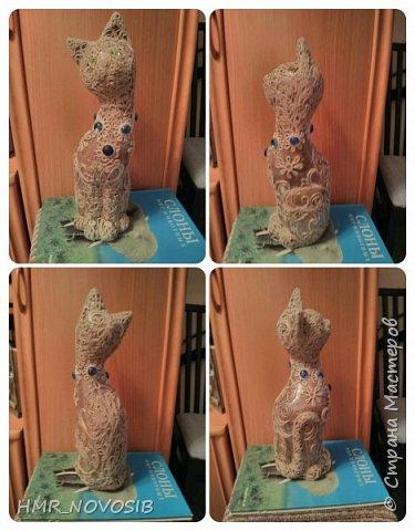 Добрый вечер дорогие друзья и милые мои соседи! Перед вами мое новое творение - джутовый котик - светильник. Завтра день рожденье у моей подруги и это ей подарок. Моя подруга ярая кошатница, поэтому думаю подарок ей придется по душе. фото 15
