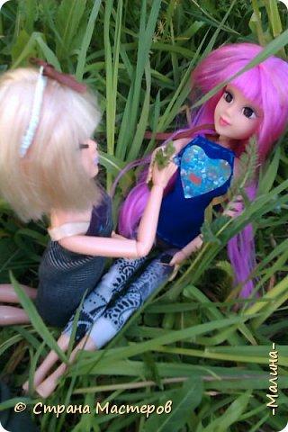 я хотела эти фотографии разделить на разные блоги, но видимо не судьба... здесь все красоточки вместе ( уже 4!!!) Сразу предупреждаю модераторов что повод- я сшила новую одежду для всех кукляш. для Лины -топ с удлиннением( не знаю как называется) и пышная юбка, для Эллы-сарафанчик и сделала ободок, для Эшли- платье с пышным низом, а для Мили- вроде как топ на завязках и леги. фото 2