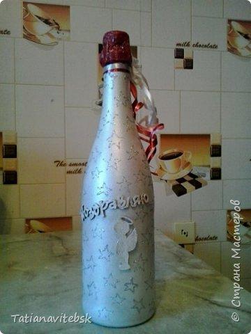 Люблю делать сюрпризы! Салфеточка  мне нравится, бутылочка для знакомой, для хорошего настроения. фото 3