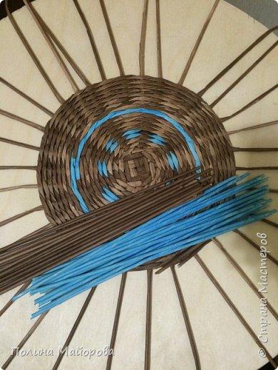 Добрый вечер, дорогие друзья!  Хочу показать Вам последнюю свою работу: плетеный стол. Я влюблена в него!  фото 6