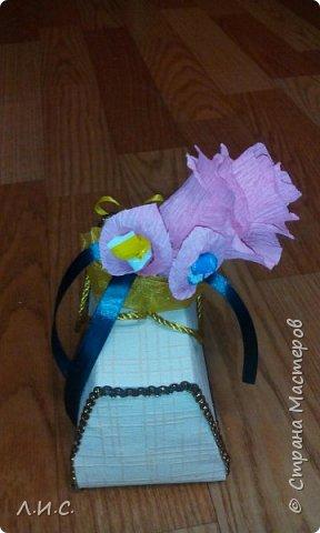 Здравствуйте, уважаемые мастера! Решила попробовать себя в свит-дизайне и сделать саквояжик, вариантов которого множество на страницах этого сайта. фото 2
