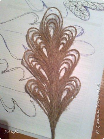 Такое вот панно с элементами джутовой филиграни подарила на День учителя любимой снохе. фото 4