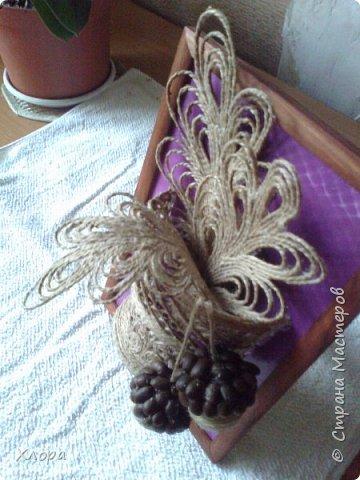 Такое вот панно с элементами джутовой филиграни подарила на День учителя любимой снохе. фото 2