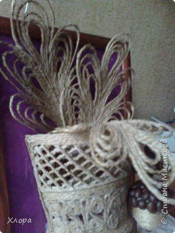 Такое вот панно с элементами джутовой филиграни подарила на День учителя любимой снохе. фото 6