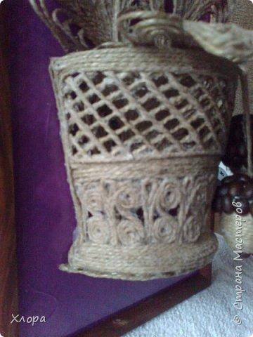 Такое вот панно с элементами джутовой филиграни подарила на День учителя любимой снохе. фото 7