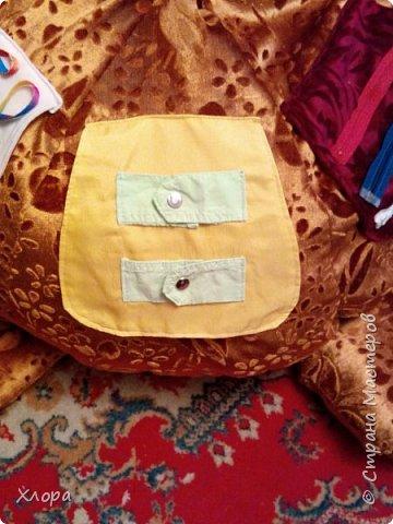 Вот такая зверюка  подарилась на день Рождения моей  Варюсечке. Игрушка- раскладушка, внутри массажный коврик. Все части на липучках, мягкие лапки мы кидали в корзину, развивали меткость. Размер метр на метр примерно. фото 8